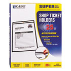 "CLI46911 - Shop Ticket Holders, Stitched, Both Sides Clear, 50"", 8 1/2 x 11, 25/BX"