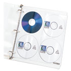 CLI61948 - Deluxe CD Ring Binder Storage Pages, Standard, Stores 8 CDs, 5/PK