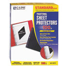 CLI03213 - Traditional Polypropylene Sheet Protector, Standard Weight, 11 x 8 1/2, 100/BX