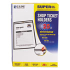 "CLI46912 - Shop Ticket Holders, Stitched, Both Sides Clear, 75"", 9 x 12, 25/BX"