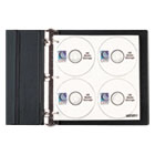 CLI61938 - CD/DVD Refillable D-Ring Binder Kit, Holds 80 Discs, Black