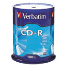 VER94554 - CD-R Discs, 700MB/80min, 52x, Spindle, Silver, 100/Pack