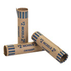 CTX20005 - Preformed Tubular Coin Wrappers, Nickels, $2, 1000 Wrappers/Box