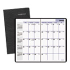 AAGSK5300 - Pocket-Sized Monthly Planner, 3 5/8 x 6 1/16, Black, 2016-2018