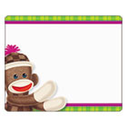 TEPT68088 - Terrific Labels, 2 1/2 x 3, Sock Monkeys, 36/Pack