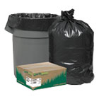 Recycled Can Liners, 40-45gal, 1.25mil, 40 x 46, Black, 100/Carton WBIRNW4850