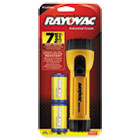 RAYI2DBC - Industrial Tough Flashlight, 2 D Batteries, Yellow/Black