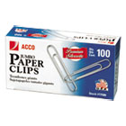 ACC72500 - Premium Paper Clips, Smooth, Jumbo, Silver, 100/Box, 10 Boxes/Pack
