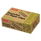 ACC72365 - Recycled Paper Clips, Smooth, #1, 100/Box, 10 Boxes/Pack
