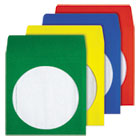 QUA68905 - Colored CD/DVD Paper Sleeves, Assorted Colors, 50/Box