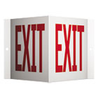 QRTVSPEX96 - Projecting 3-Way Sign, EXIT, 6 x 9, Red/White