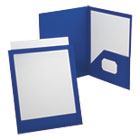OXF57441 - ViewFolio Polypropylene Portfolio, 50-Sheet Capacity, Blue/Clear