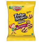 KEB21771 - Mini Cookies, Fudge Stripes, 2oz Snack Pack, 8/Box