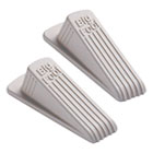 MAS00975 - Big Foot Doorstop, No Slip Rubber Wedge, 2 1/4w x 4 3/4d x 1 1/4h, Beige, 2/Pack