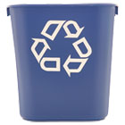RCP295573BE - Small Deskside Recycling Container, Rectangular, Plastic, 13.625qt, Blue