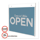 DEF68301 - Classic Image Single-Sided Wall Sign Holder, Plastic, 11 x 8 1/2 Insert, Clear