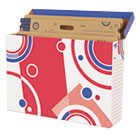 TEPT1020 - File 'n Save Bulletin Board Storage Box, 27-3/4 x 19 x 7-1/4, Bright Stars