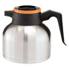 BUNTHERMORN - 1.9 Liter Thermal Carafe, Stainless Steel/ Black and Orange (Decaf)