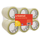 "UNV66100 - General-Purpose Acrylic Box Sealing Tape, 48mm x 100m, 3"" Core, Clear, 12/Pack"