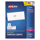 Easy Peel Laser Address Labels, 1 x 2-5/8, White, 3000/Box AVE5160