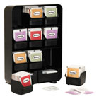 EMSTBORGBLK - Baggy Nine-Drawer Tea Bag and Accessory Holder, Black, 10.24 x 4.33 x 13.11