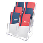 DEF77401 - Multi Compartment DocuHolder, Six Compartments, 9 5/8w x 6 1/4d x 12 5/8h, Clear