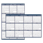 HOD396 - Recycled Poster Style Reversible/Erasable Yearly Wall Calendar, 24 x 37, 2017