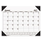 HOD124 - Recycled One-Color Refillable Monthly Desk Pad Calendar, 22 x 17, 2017