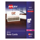 AVE5315 - Note Cards, Laser Printer, 4 1/4 x 5 1/2, Uncoated White, 60/Pack with Envelopes