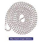 "AVT75417 - ID Badge Holder Chain, Ball Chain Style, 36"" Long, Nickel Plated, 100/Box"