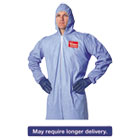 DUPTM127S3XL - Tempro Elastic-Cuff Hooded Coveralls, Blue, 3X-Large, 25/Carton