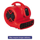 EURSC6053 - Commercial Three-Speed Air Mover, 1/2 hp Motor, 20 lbs, Red/Black