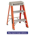 "DADFS1502 - Fiberglass Heavy Duty Step Ladder, 28 3/8"", 2-Step, Orange"