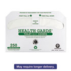 HOSGREEN1000 - Health Gards Green Seal Recycled Toilet Seat Covers, White, 250/PK, 4 PK/CT