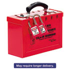 MLK498A - Latch Tight Portable Lock Box, Red