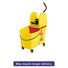 RCP757688YW - WaveBrake 44 Quart Bucket/Downward Pressure Wringer Combination, Yellow