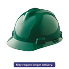 MSA475362 - V-Gard Hard Hats, Ratchet Suspension, Size 6 1/2 - 8, Green