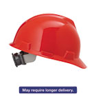 MSA475363 - V-Gard Hard Hats, Ratchet Suspension, Size 6 1/2 - 8, Red