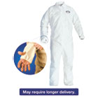 KCC42528 - A40 Breathable Back Coverall with Thumb Hole, White/Blue, 2X-Large, 25/Carton