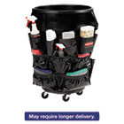 RCP1867533CT - Brute Caddy Bag, 12 Pockets, Black, 6/Carton