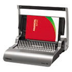 FEL5227201 - Quasar Manual Comb Binding System, 18 1/8 x 15 3/8 x 5 1/8, Metallic Gray