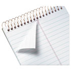 TOP20806 - Gold Fibre Spiral Steno Book, Gregg, 6 x 9, White/Green, 100 Sheets