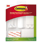 MMM17213ES - Picture Hanging Kit, White/Clear, Assorted