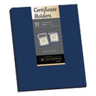 SOUPF8 - Certificate Holder, Navy, 105lb Linen Stock, 12 x 9 1/2, 10/Pack