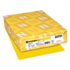 WAU22731 - Color Cardstock, 65lb, 8 1/2 x 11, Solar Yellow, 250 Sheets