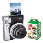 FUJ600016090 - Instax Mini 90 Neo Classic Camera Bundle, Auto Focus, Black