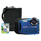 FUJ600016114 - XP90 Digital Camera Bundle, 16 MP, Tracking Auto Focus, Black