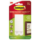 "MMM17206ES - Picture Hanging Strips, 1/2"" x 3 5/8"", White, 4/Pack"