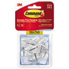 MMM17067CLR9ES - Clear Hooks & Strips, Plastic/Wire, Small, 9 Hooks w/12 Adhesive Strips per Pack