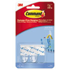 MMM17092CLRES - Clear Hooks & Strips, Plastic, Small, 2 Hooks & 4 Strips/Pack